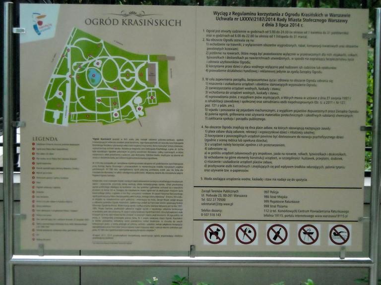 Regulamin Parku Krasińskich