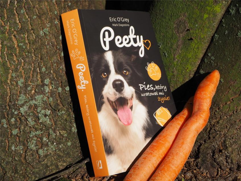 Peety, recenzja książki, recenzja, pies który uratował mi życie