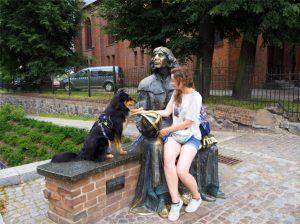 Olsztyn z psem, Olsztyn na jeden dzień, pies w Olsztynie, Olsztyn, Warmia i Mazury, psie wędrówki, wędrówki z psem