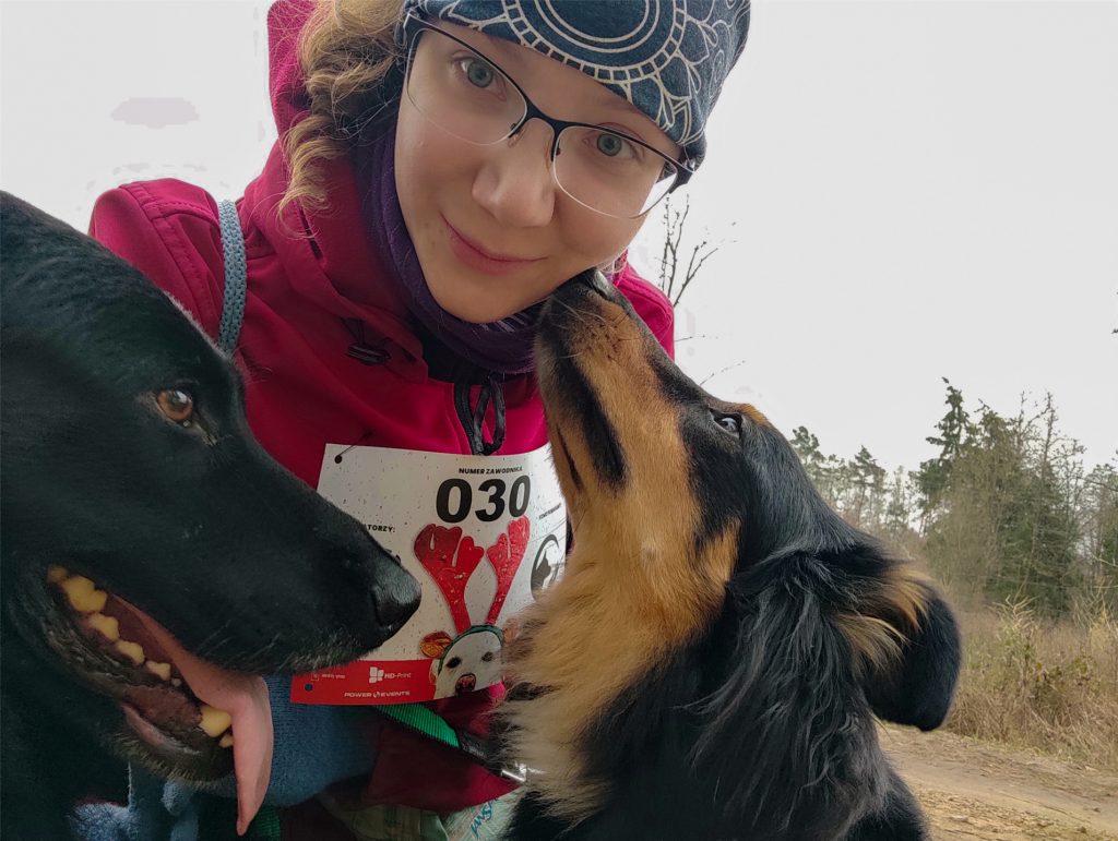 Bolimowski Park Krajobrazowy, Kampinos z psem, dogtrekking, dogtrekking mikołajkowy, mikołajki, aktywne mikołajki, barktrekking