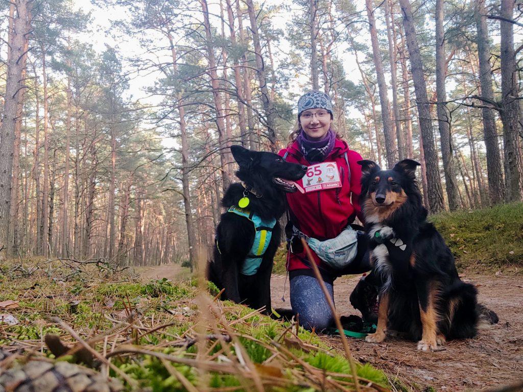 Kampinoski Park Narodowy, Kampinos z psem, dogtrekking, dogtrekking mikołajkowy, mikołajki, aktywne mikołajki